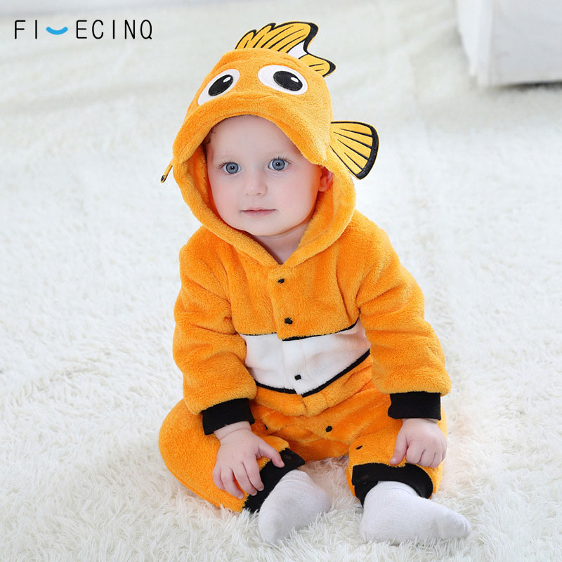Fish Kigurumis Baby Cartoon Cosplay Costume Yellow Cute Animal Kids Suit Little Boy Girl Christmas Gift Winter Warm Anime Pajama