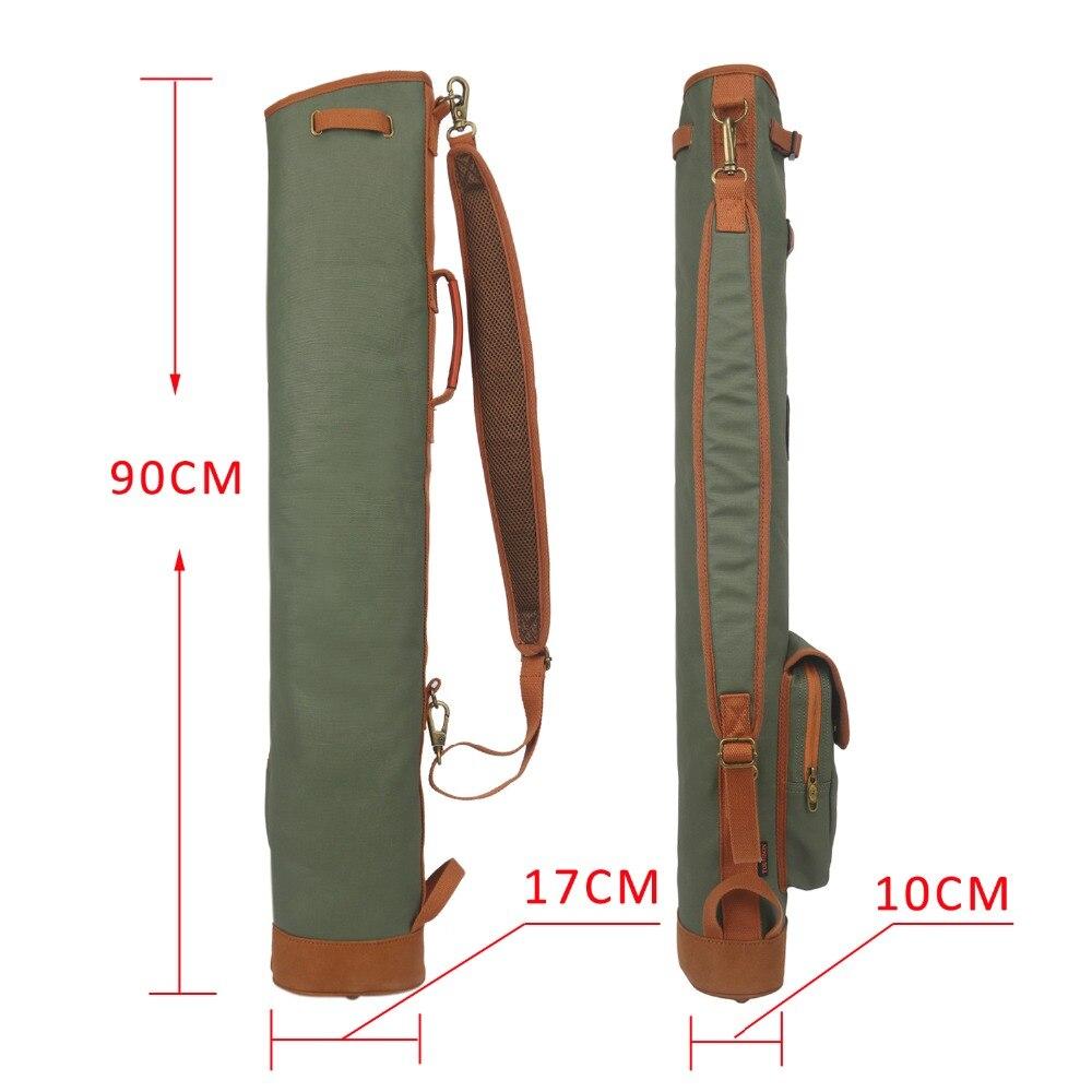 Tourbon extérieur Vintage Golf sac Clubs transporteur Style crayon ciré toile & cuir polaire rembourré Club couverture 90CM - 4