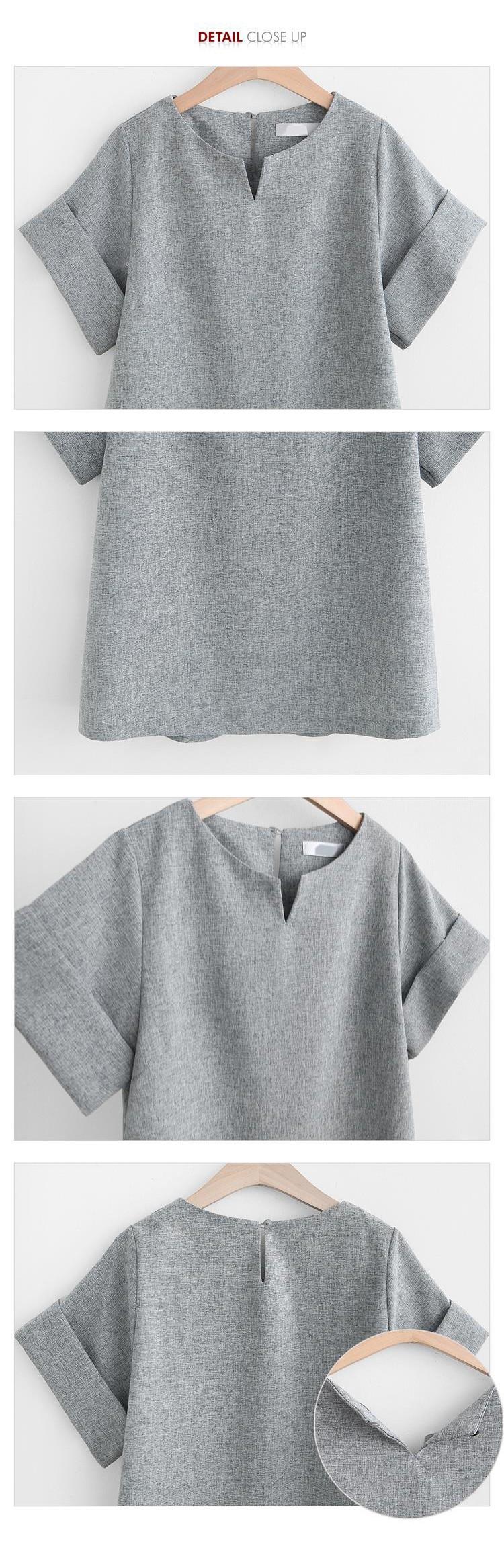 2017 Kobiety Lato W Stylu Casual Cotton Linen Top Koszula Kobiece Pure Color Kobiet Biuro Garnitur Ustawić kobiet Kostiumy Hot Krótki zestawy 6