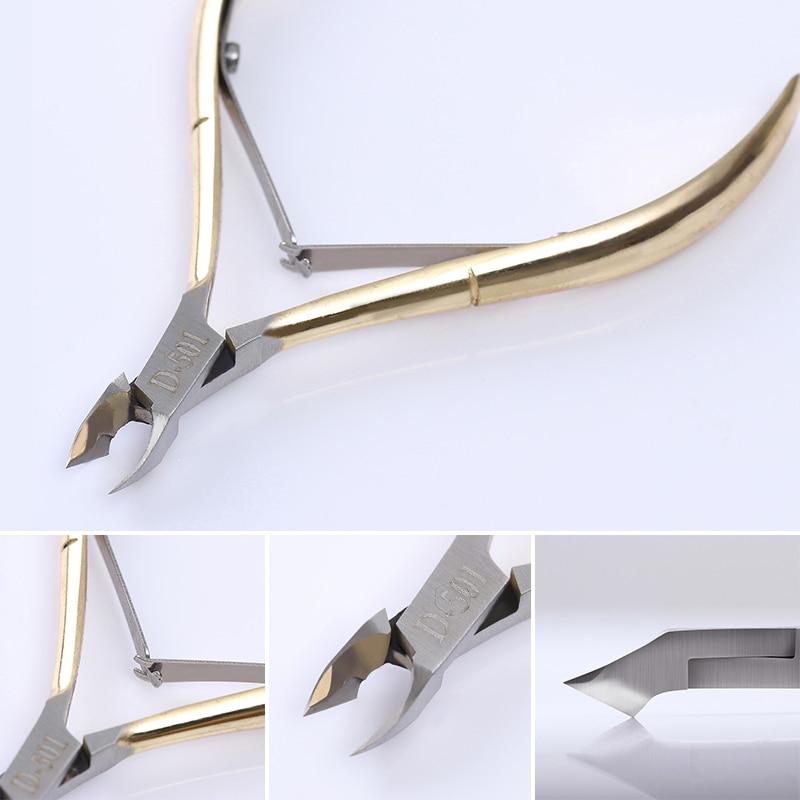 1 Pz Oro di Alta Qualità Nail Cuticle Edge Cutter Nipper Clipper - Manicure