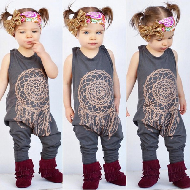 56d80f56b795 465 Autumn 2017 Kids Clothes Cute Toddler Baby Girls Boys Totem Print  Romper Jumpsuit Children Outfits