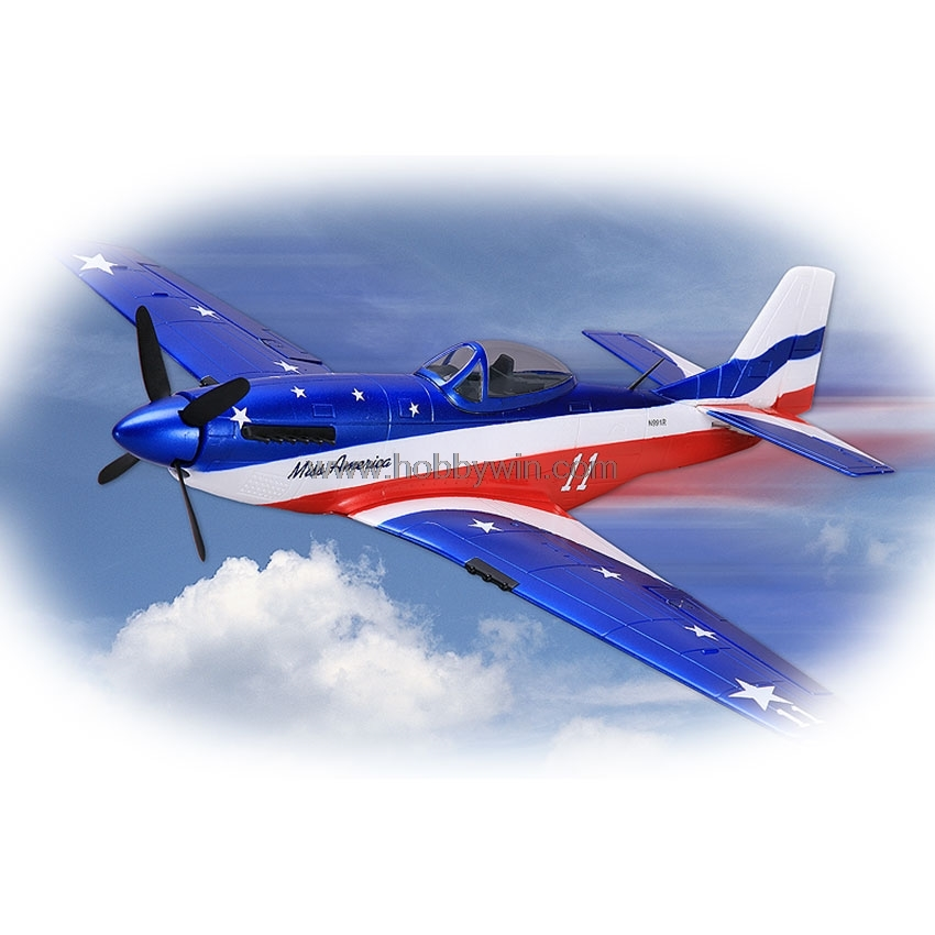 P51-D Mustang EPS 680mm Blue PNP without Battery & Radio RC model foam warbird airplane ls8 18 sailplane eps 2000mm pnp without battery