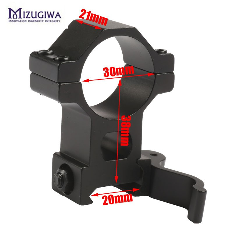 2pcs/lot Hunting Scope Mount 25.4/ 30mm High Ring 20mm Weaver Picatinny Rail QD Quick Release Scope Mount Hunting Caza
