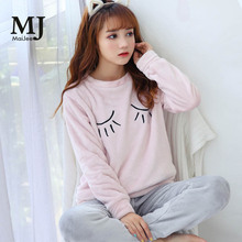 MJ038A  Flannel Kigurumi Winter Pink Pizama Damska Pijama Feminino De Animal Thick Pyjama Pijamas Mujer Pigiama Donna