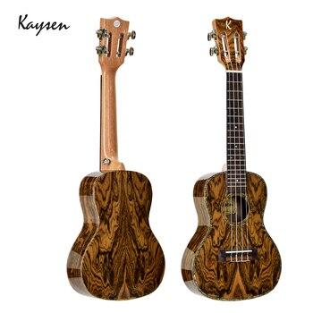 baa97f14c Kaysen 23 pulgadas Ukelele alta calidad Cordia madera textura Natural 4  cuerdas Hawaii para guitarra de concierto Ukelele JUK01