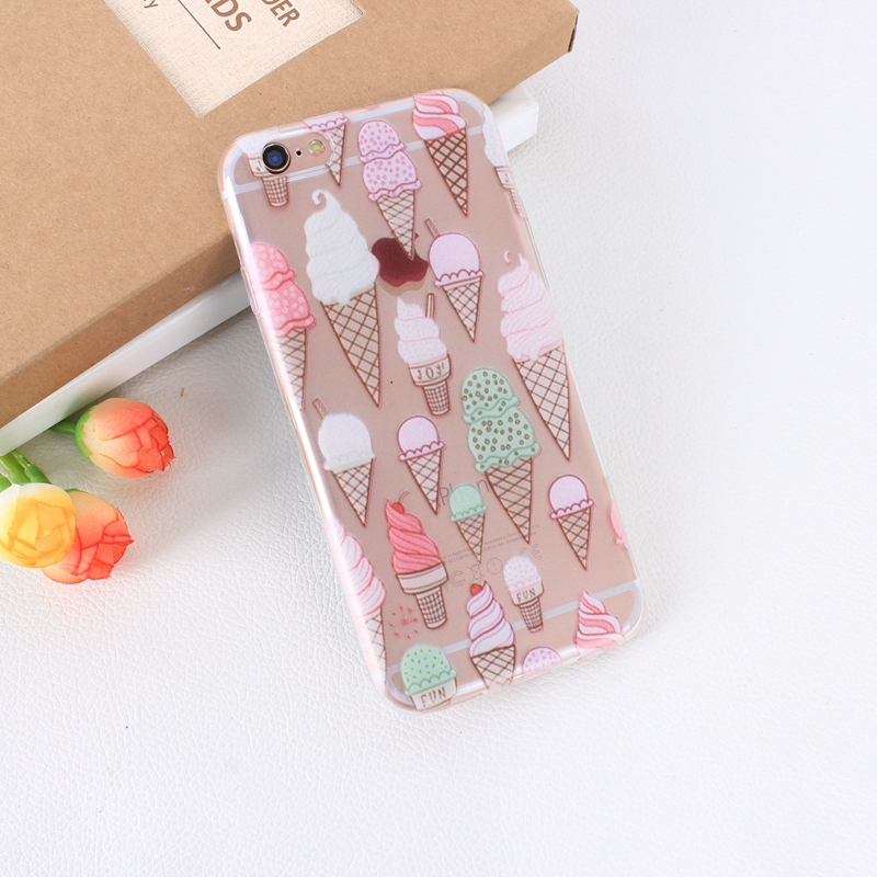 Color Macarons cake Design Fashion soft TPU Phone Cases For iPhone 6 6s TPU Fundas Cover for iPhone SE 5 5s 5G phone bags (10)