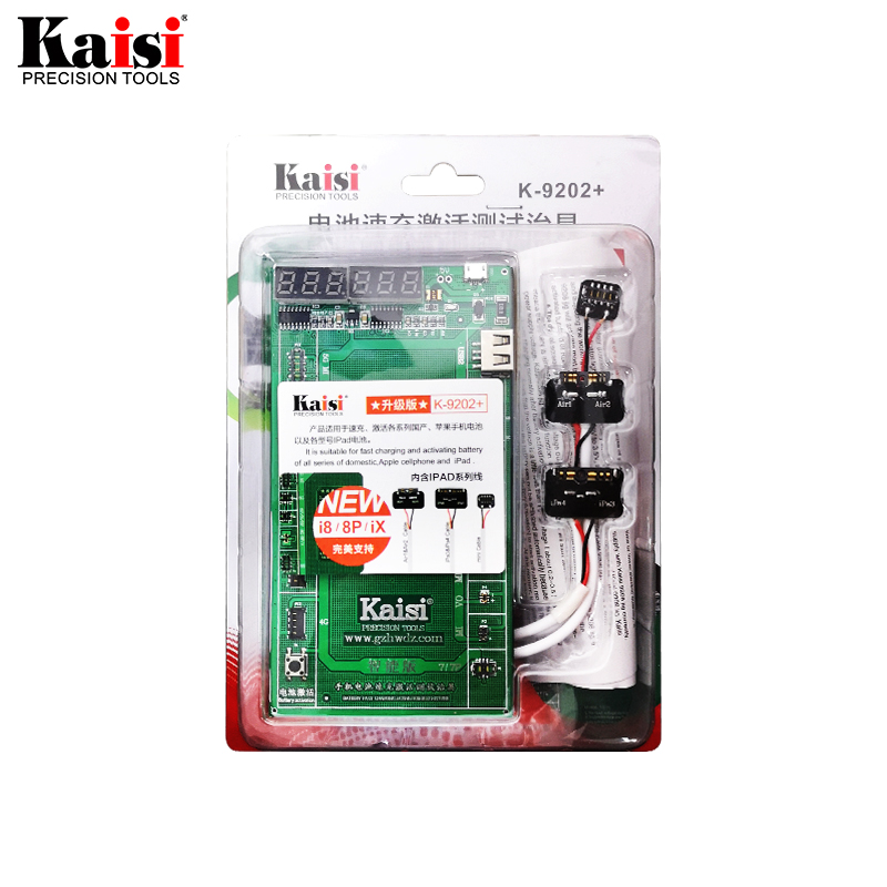 Kaisi K-9202 Battery Charging Activation Test Fixture for iPad iPhone X 8G 7G 6s OPPO Logic Board Circuit Current Testing Cable third generation iphone battery ipad tablet pc cable tester accessories test panels test sockets test fixture href page 1 page 5
