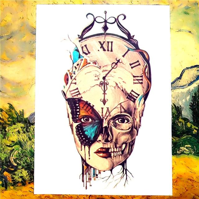 Shnapign El Paso Del Tiempo Tatuaje Temporal Cuerpo Tatuaje Etiqueta