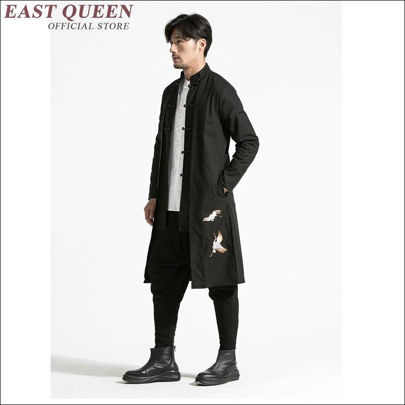 Vestuário masculino 2018 ternos de linho masculino gola mandarim terno wing chun vestuário tradicional chinês para homem aa1636z - 2