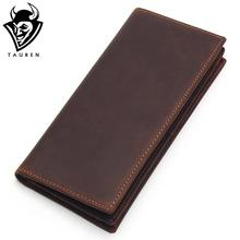 hot deal buy mens long crazy horse leather leather wallets men genuine leather wallet clutch vintage male purse leather purse wallets