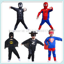 Free shipping Red black spiderman costume batman superman spider-man costumes superhero spider man costume C14(China)