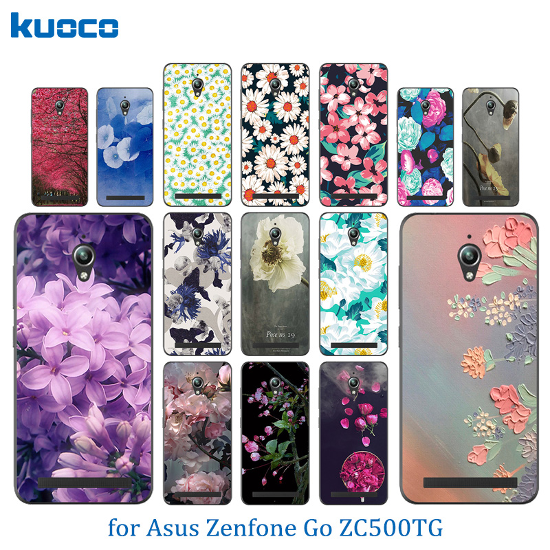 Soft Silicone Case For Asus Zenfone Go ZC500TG Back Cover Blossom Pattern For fundas Asus ZC ZC500 500 500TG TG Phone Case