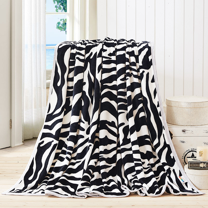 Pleasant Us 18 85 35 Off Black And White Stripe Pattern Double Layer Blanket Thick Soft Throw Blanket On Sofa Bed Plane Travel Plaids Adult Home Textile In Gmtry Best Dining Table And Chair Ideas Images Gmtryco