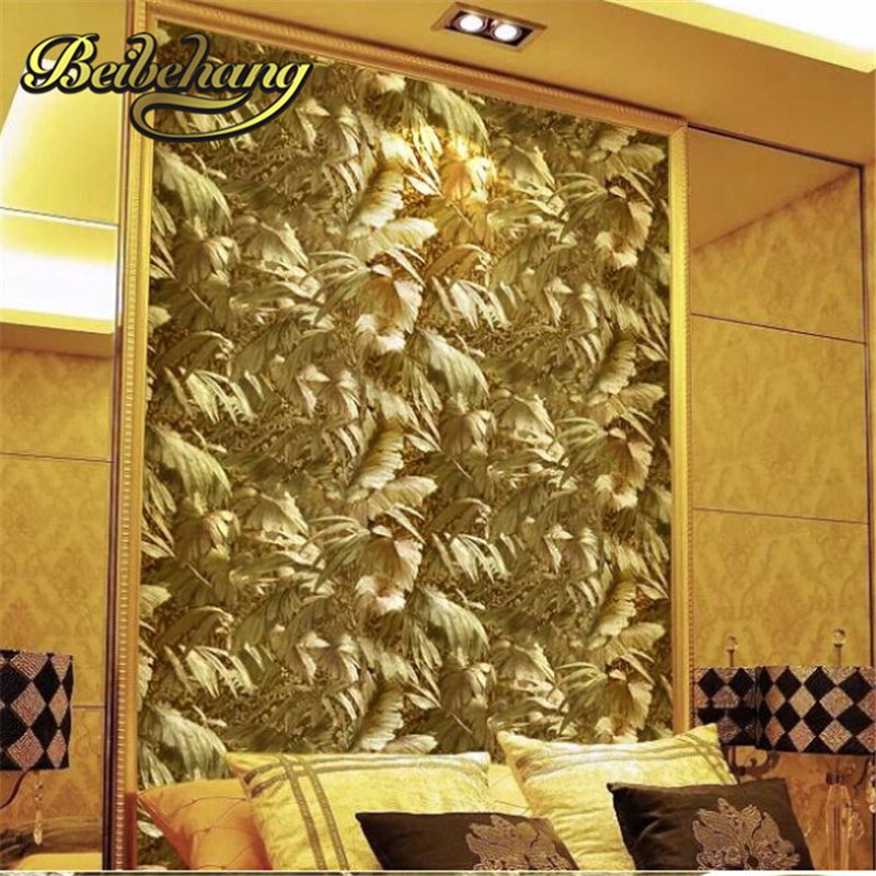 beibehang papel de parede. Reflective luxury photo wallpapers gold foil gold embossed background wall wallpaper for living room