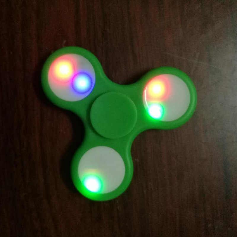 Новые детские светодиодный освещение пластмассовый Спиннер игрушки для страдающих аутизмом ADHD для избавления от стресса и тревожности фокус палец гироскоп Забавный, милый игрушечный O
