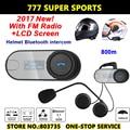 LCD Screen Motorcycle Bluetooth Intercom FM Function Hi-Fi Speaker  BT Bluetooth Interphone Helmet Headset