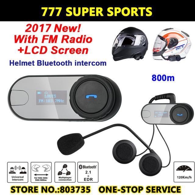 Tela de LCD Interfone Motocicleta Do Bluetooth Função FM Hi-Fi Speaker BT Interphone Bluetooth Capacete Headset