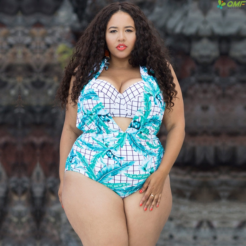 0ce46fa43ab Swimwear Women One Piece 2018 Plus Size Bathing Suit Fitness Underwire  Padded Swimsuit Green Floral Biquini Deep V Neck