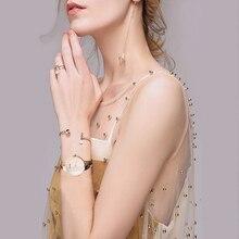 CUSSI Fashion Watches Women Gold Plated Steel Bracelet Ladies Dress Watches Gold/Silver/Rose gold Quartz-Watch Relogio Feminino