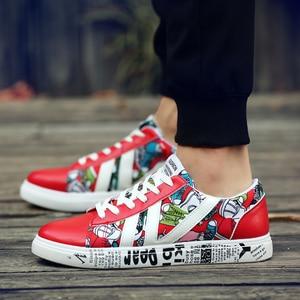 Image 4 - Offre spéciale chaussures vulcanisées homme chaussures de marche homme baskets chaussures hommes rouge baskets homme Tenis Masculino Zapatillas