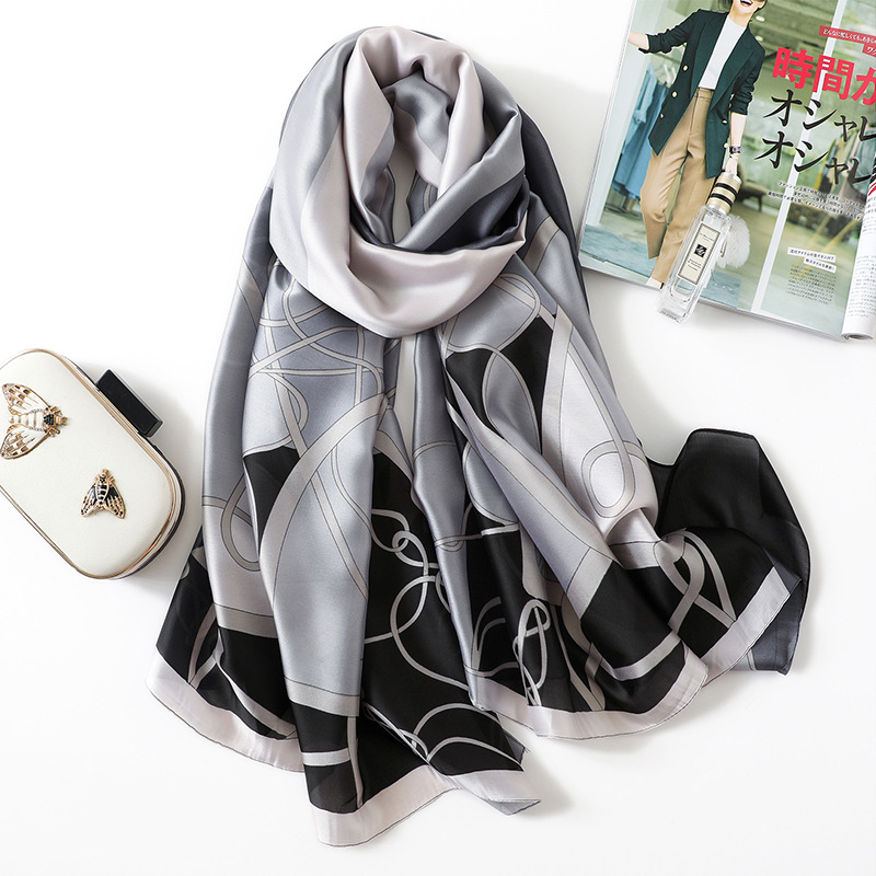Scarf Women 2019 Silk Pashmina Hijab Luxury Lady Beach Shawls and Wraps Scarfs Fashion Foulard Female Travel Scarves in Women 39 s Scarves from Apparel Accessories