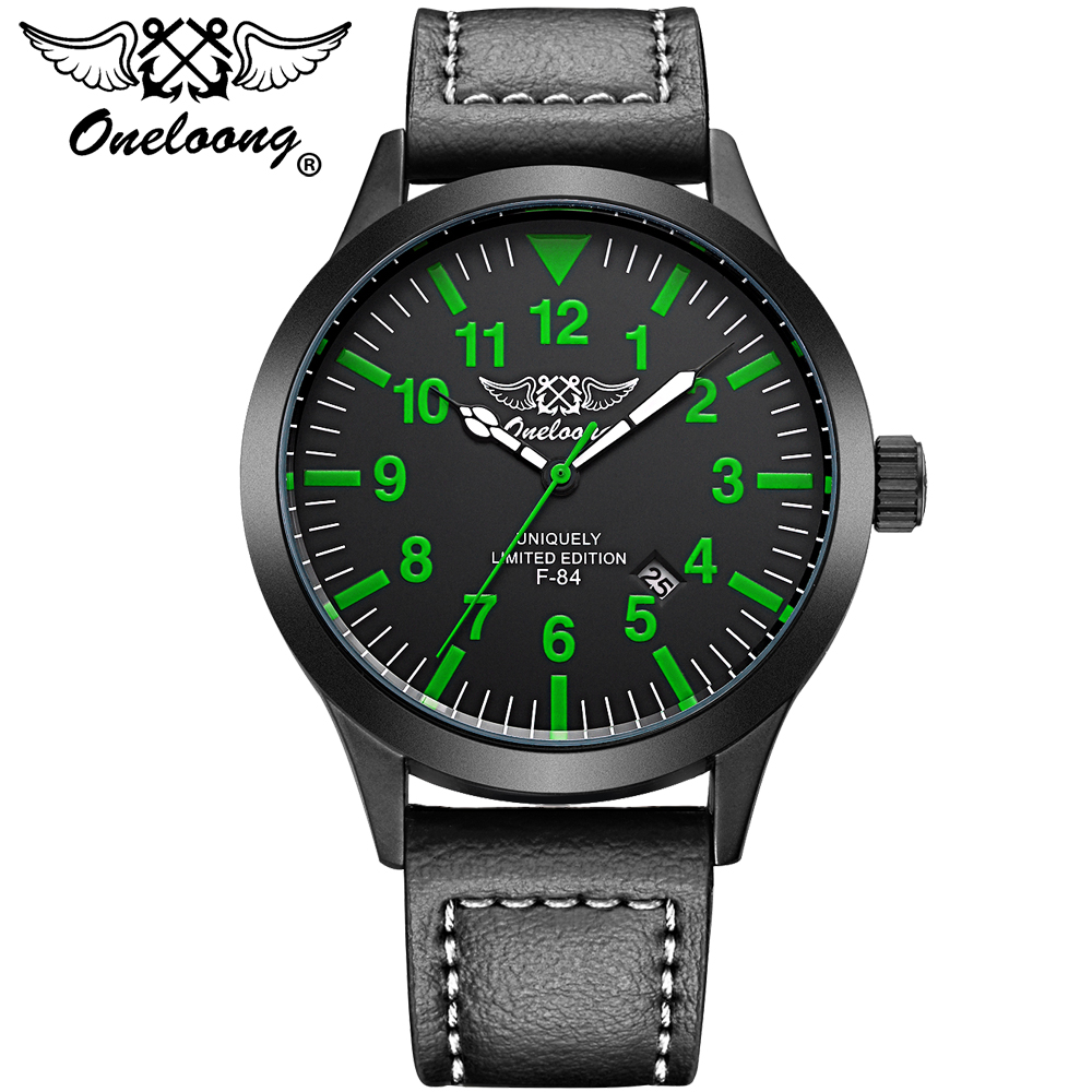 ONELOONG New Luxury Brand Men Army Military Wrist Watches Men's Quartz Date Clock Male Leather Sports Watch Relogio Masculino new listing men watch luxury brand watches quartz clock fashion leather belts watch cheap sports wristwatch relogio male gift