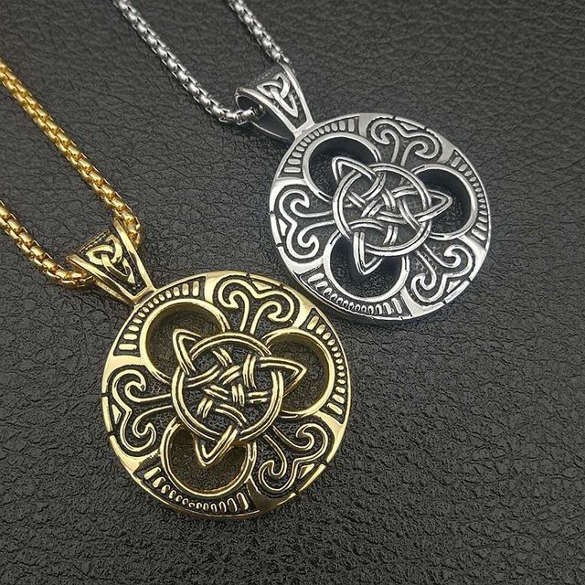 Aliexpress Buy 2018 Silver Gold Trinity Knot Engraved Grey