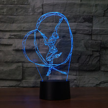 3D NightLight Amazing LED Creative Art Gymnastic Shape USB Desk Lamp 7 Color Change Decor Bedroom Lightings Girl Birthday Gifts(China)