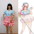 Nitro Super Sonic Super Sonico Blue Pink Game Cosplay Costume Free Shipping