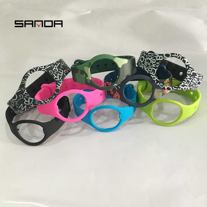 SANDA Bracelet de montre de rechange pour SD01 SD02 IOS Android Bluetooth Bracelet de montre intelligente