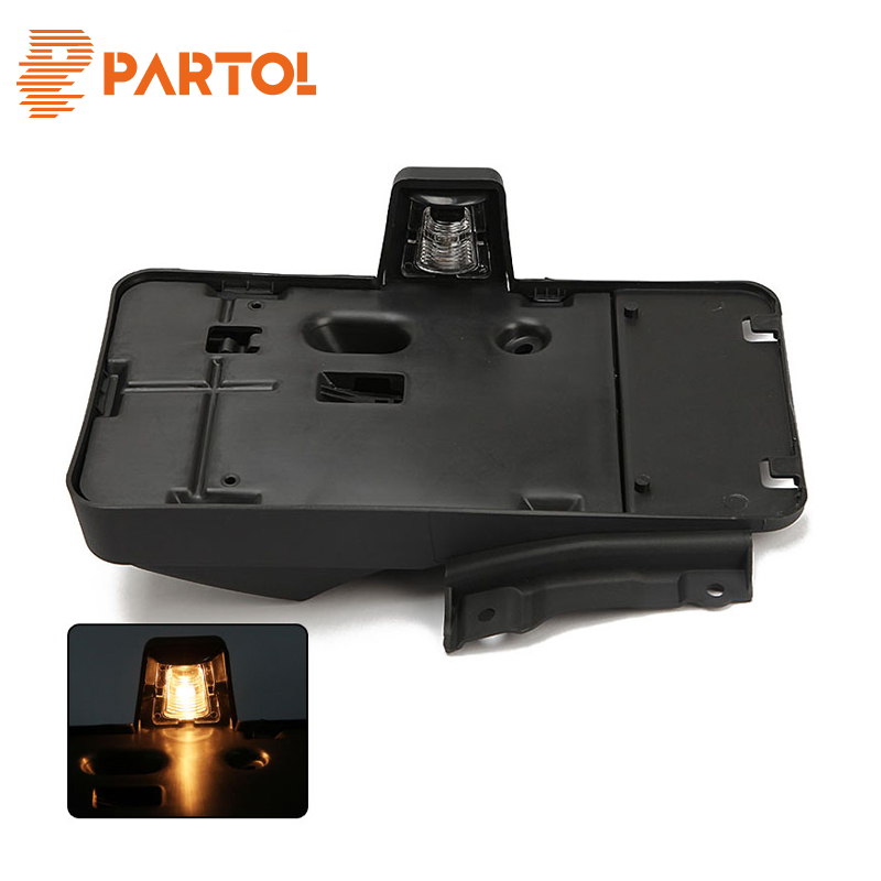 Partol Car Rear License Plate Holder With Light License