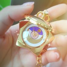 Аниме Сейлор Мун 20-летие карманные часы золотой цвет без музыки