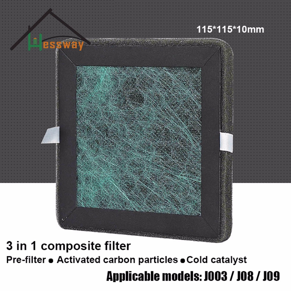 115*115*10mm Filter activated carbon cold catalyst composite filter with air purifier smeg scv 115