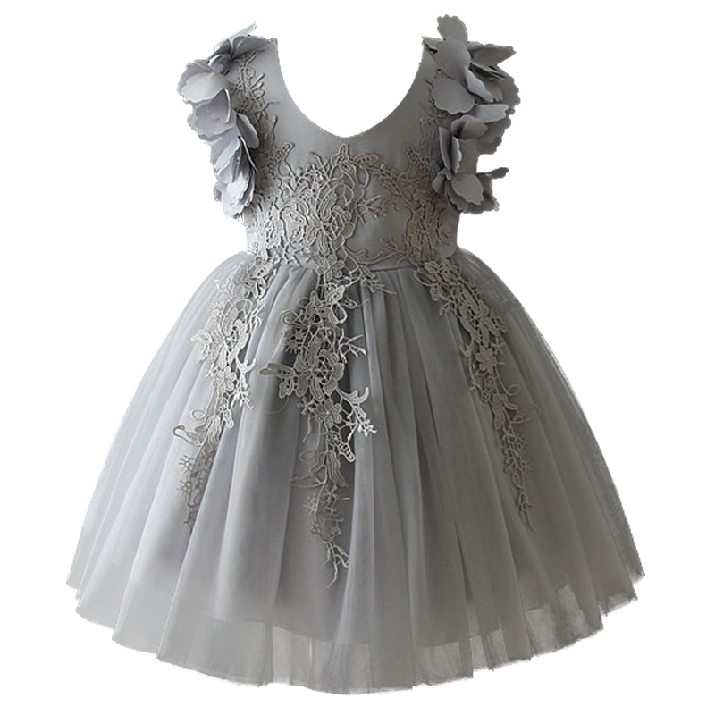 Lace Infant Baby Girl Birthday Party Dresses Formal Wedding Flower Dressbaptism Easter Gown Toddler Princess Petals Dress baby girl 1st birthday outfits short sleeve infant clothing sets lace romper dress headband shoe toddler tutu set baby s clothes