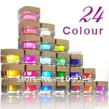 24 Цвета УФ-гель для маникюра Типсы для ногтей