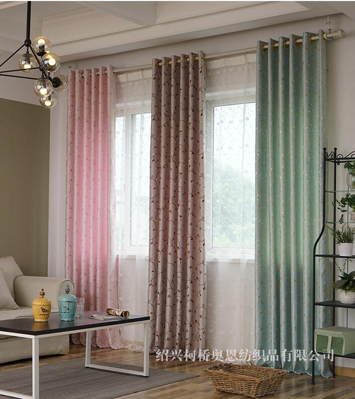 NEUE Luxus jacquard baumwolle Schweren Stoff Fenster Vorhang grüne Farbe Black Out Jalousien für Schlafzimmer Wohnzimmer Licht Schattierung