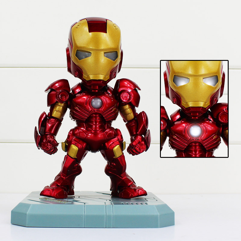 Anime Figure Super Hero IRON MAN Mark 3 Light-Emitting Function Action Figure Collectible Figurines фотообои barton wallpapers города 200 x 270 см u28102