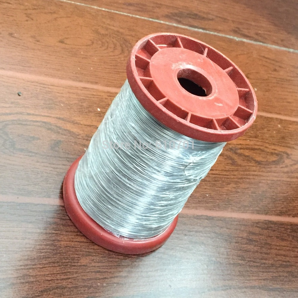 0.5MM 160m Stainless Steel Wire for Hive Frames Beekeeping 500g 24# chrome oxide plated steel wire guide pulley for wire industry