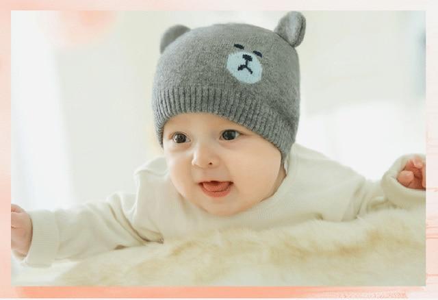 Pettigirl Bear Ears Cute Baby Hat Newborn Baby Beanie Winter Warm Hat For Baby  Girls Boys a470cf9b525