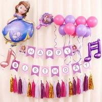 New type HAPPY BIRTHDAY balloon Set balloon + Paper Banner Set Birthay DIY Party Backdrop Decoration Favors Kid Toy