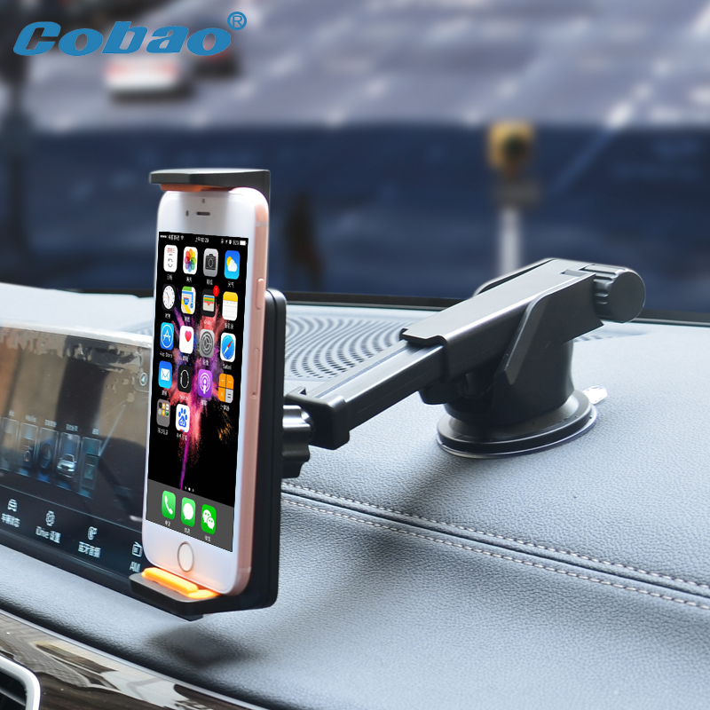 Universal phone holder 360 rotation car holder adjustable windshield and air vent two use mouont stand for Iphone galaxy