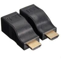4K HD 1080P 3D HDMI Extender Over A Dual RJ45 Cat 5e 6 Ethernet Network Adapter