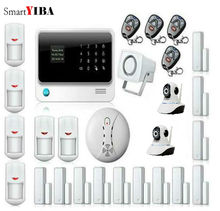 SmartYIBA GSM&GPRS&WIFI Alarm Home Burglar Alarmes WIFI IP Camera Security System Infrared Motion Sensor Smoke Alarm Sets
