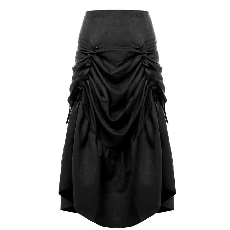 Vintage Steampunk Φούστα Γυναίκες Μαύρο - Γυναικείος ρουχισμός - Φωτογραφία 3