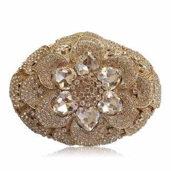 Luxury Handbags Women Bags Designer Flower Pattern Women Evening Clutch Bags Crystal Party Wedding Ladies Handbag Bolsa Feminina