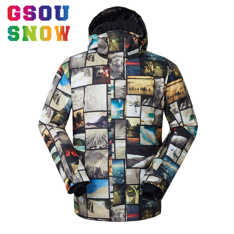 все цены на GSOU SNOW Brand Ski Jacket Men Snowboard Jacket Winter Skiing Snowboarding Snow Coat Waterproof Windproof Outdoor Sports Clothes
