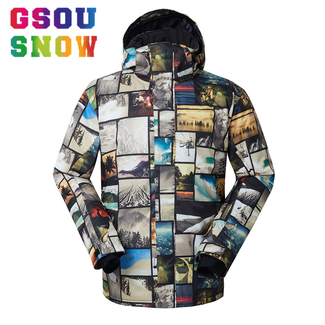 09a88aaff8 GSOU SNOW Brand Ski Jacket Men Snowboard Jacket Winter Skiing Snowboarding  Snow Coat Waterproof Windproof Outdoor