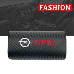 Image 2 - car neck pillows pu leather single headrest  filled fiber car pillow for OPEL Corsa Insignia Astra Antara Meriva Zafira OPC