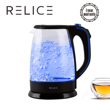 все цены на RELICE Electric Kettle 1.8L 220V Safety Auto-Off Function Household Water Boiling Kettles Heating Teapot 1600W Thermo Glass Pot онлайн