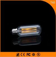 50 шт. 6 Вт e27 b22 светодиодные лампы, t45 COB Винтаж Эдисон света, нити свет Ретро Лампа AC 220 В